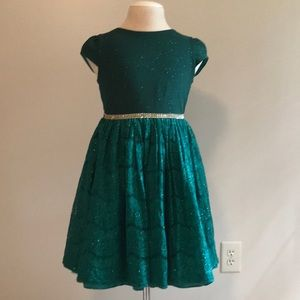 Emerald green sparkle dress size 14